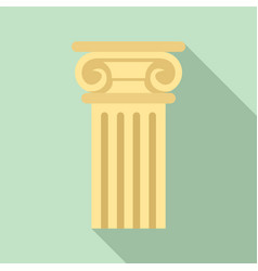 ancient pillar icon flat style vector image