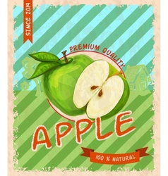 Apple retro poster vector image vector image