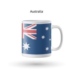 Australia flag souvenir mug on white background vector