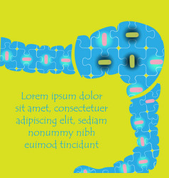 bacteriums in the intestines vector image