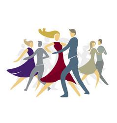 ballroom dancing couples vector image