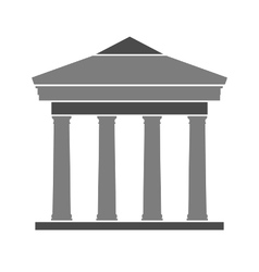 Bank symbol icon on white vector image