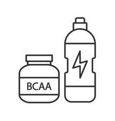Bcaa supplement linear icon vector