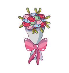 Beautiful flower bouquet decoration design vector