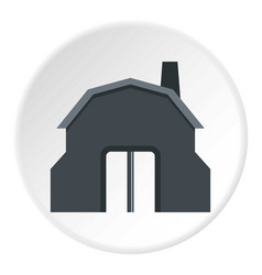 Blacksmith workshop building icon circle vector