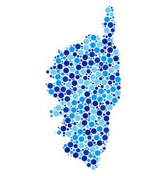 Blue spot corsica france island map mosaic vector