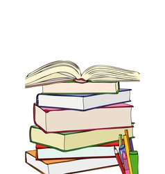 Books and colors vector