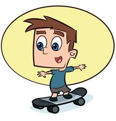 Boy on Skateboard vector image