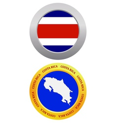button as a symbol COSTA RICA vector image