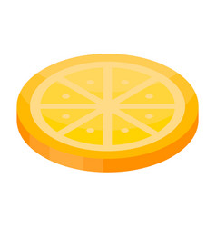 candy orange icon isometric style vector image