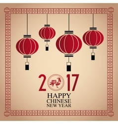Card chinese new year 2017 vector