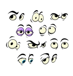 Cartoon eyes with different expressions vector