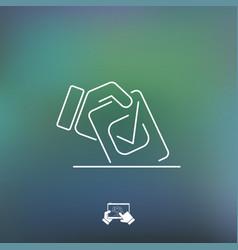 choice icon vector image