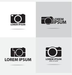 compact camera logo vector image