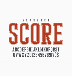 Cool retro design alphabet typeface vector
