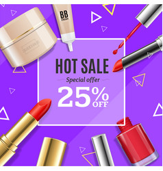 Cosmetic big sale banner banner card vector