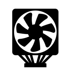 cpu cooler vector image