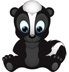 cute skunk vector image