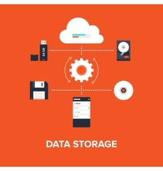 Data Storage vector image