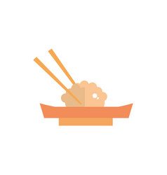 Dim sum with chopsticks culture traditional japan vector