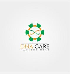 dna icon template creative logo design medical vector image