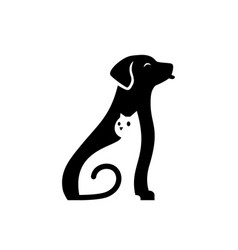 dog cat pet cute care logo icon vector image