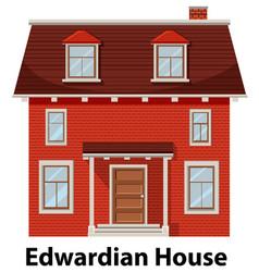 Edwardian house on white background vector