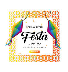 festa junina sale background template vector image