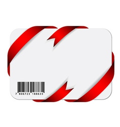 festive card with barcode vector image