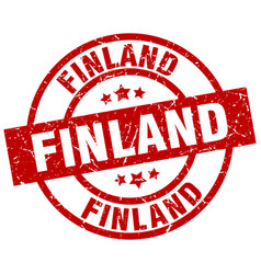 Finland red round grunge stamp vector