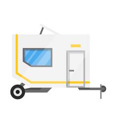flat classic camper trailer recreational vector image