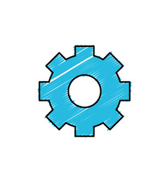Gear industry technology information icon vector
