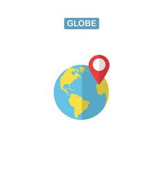 globe isolated flat web mobile icon image vector image
