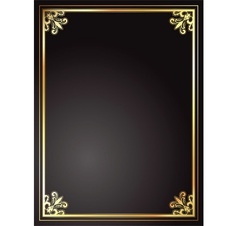 Gold and black frame vector