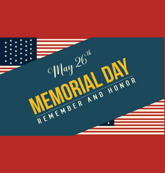 Happy memorial day theme banner style vector