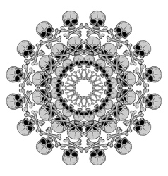 Human Skull circular pattern vector image