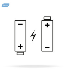 Icon two batteries charge loading power vector