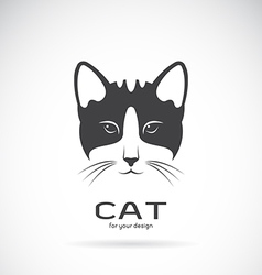 Image of an cat face design vector