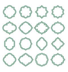 islamic vintage shapes lines frames ornate badges vector image