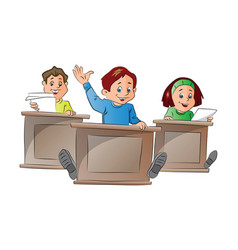 kids in school vector image