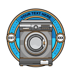 Laundry washing machine logo vector
