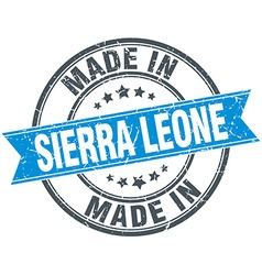 Made in Sierra Leone blue round vintage stamp vector