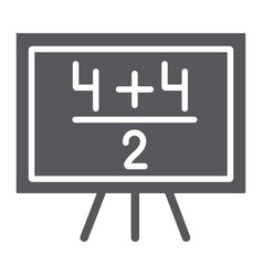 Maths example glyph icon lesson and mathematical vector