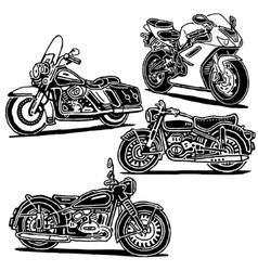 Motorcycles set vector image vector image