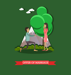 Offer marriage in flat vector