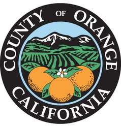 Orange county seal vector image