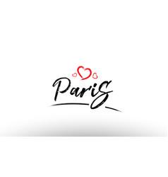 Paris europe european city name love heart vector