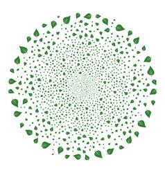 Plant leaf fireworks sphere vector