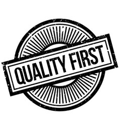 quality first rubber stamp vector image