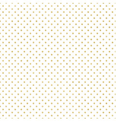 seamless gold polka dot pattern just drop to vector image